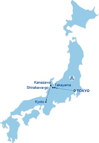 Day Takayama Holiday All Japan Tours - Japan map kanazawa